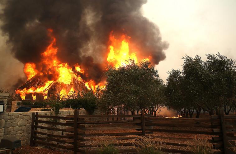 שריפות בקליפורניה. צילום: AFP