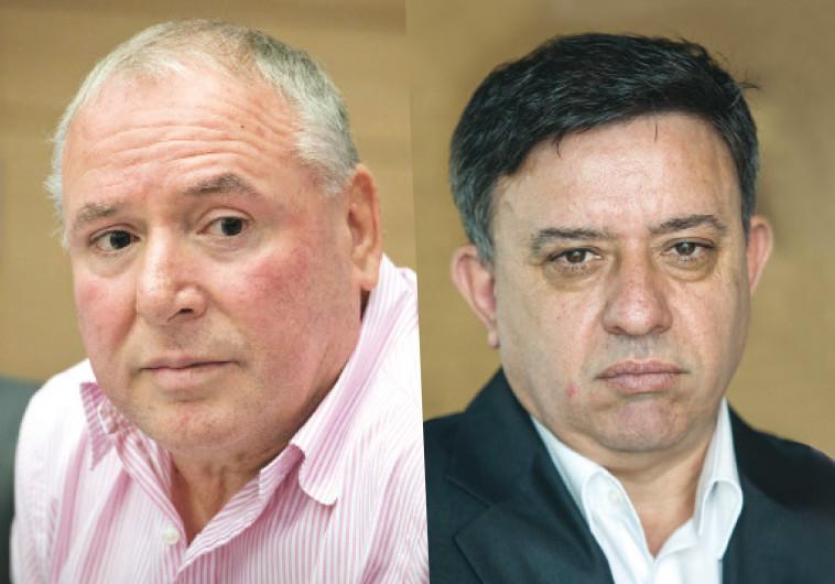 אבי גבאי ודוד אמסלם. צילום: פלאש 90
