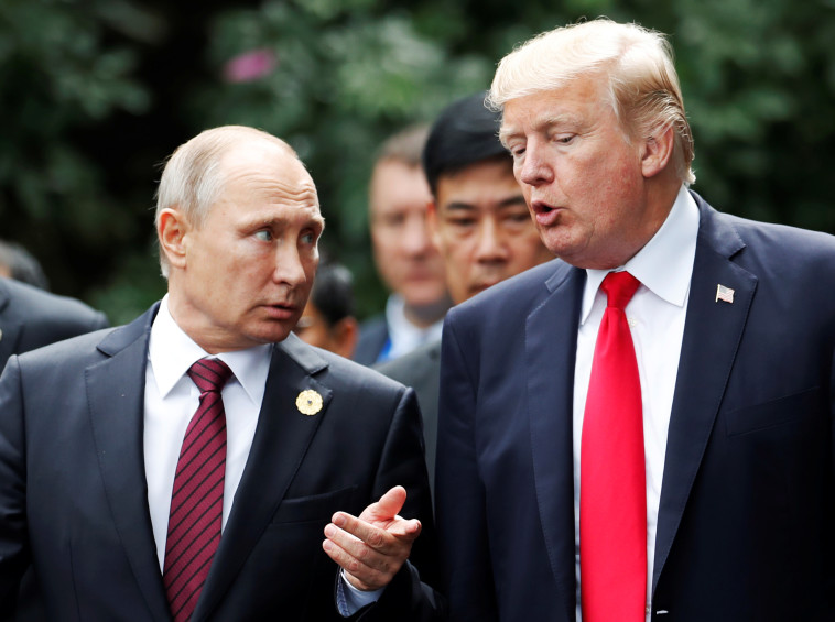 """עם טראמפ. נשיא ארה""""ב יודע שפוטין לא סופר אותו. צילום: רויטרס"""