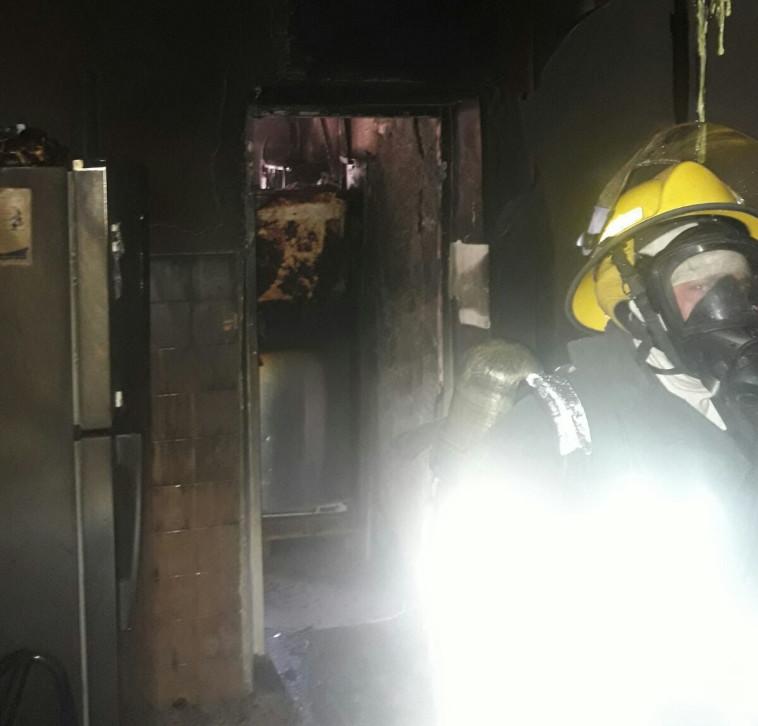 """הדירה שנשרפה. צילום: דוברות כב""""ה ירושלים"""