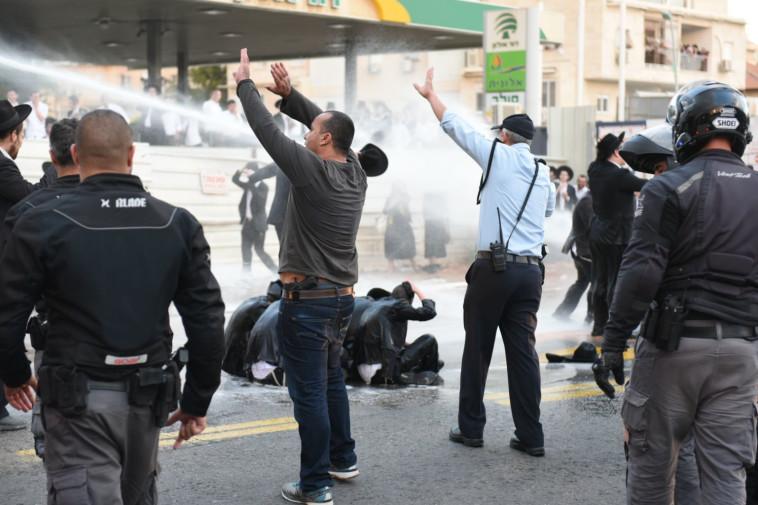 הפגנת החרדים בבני ברק. צילום: קובי ריכטר/TPS