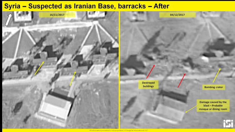 נזקי תקיפה המיוחסת לישראל בסוריה. צילום: ImageSat International: (ISI)
