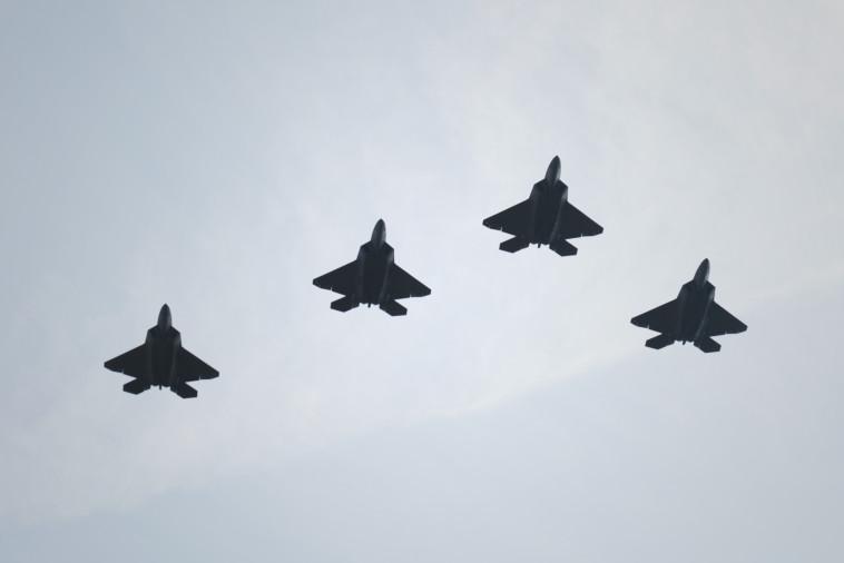 מטוסי F-22. צילום: AFP