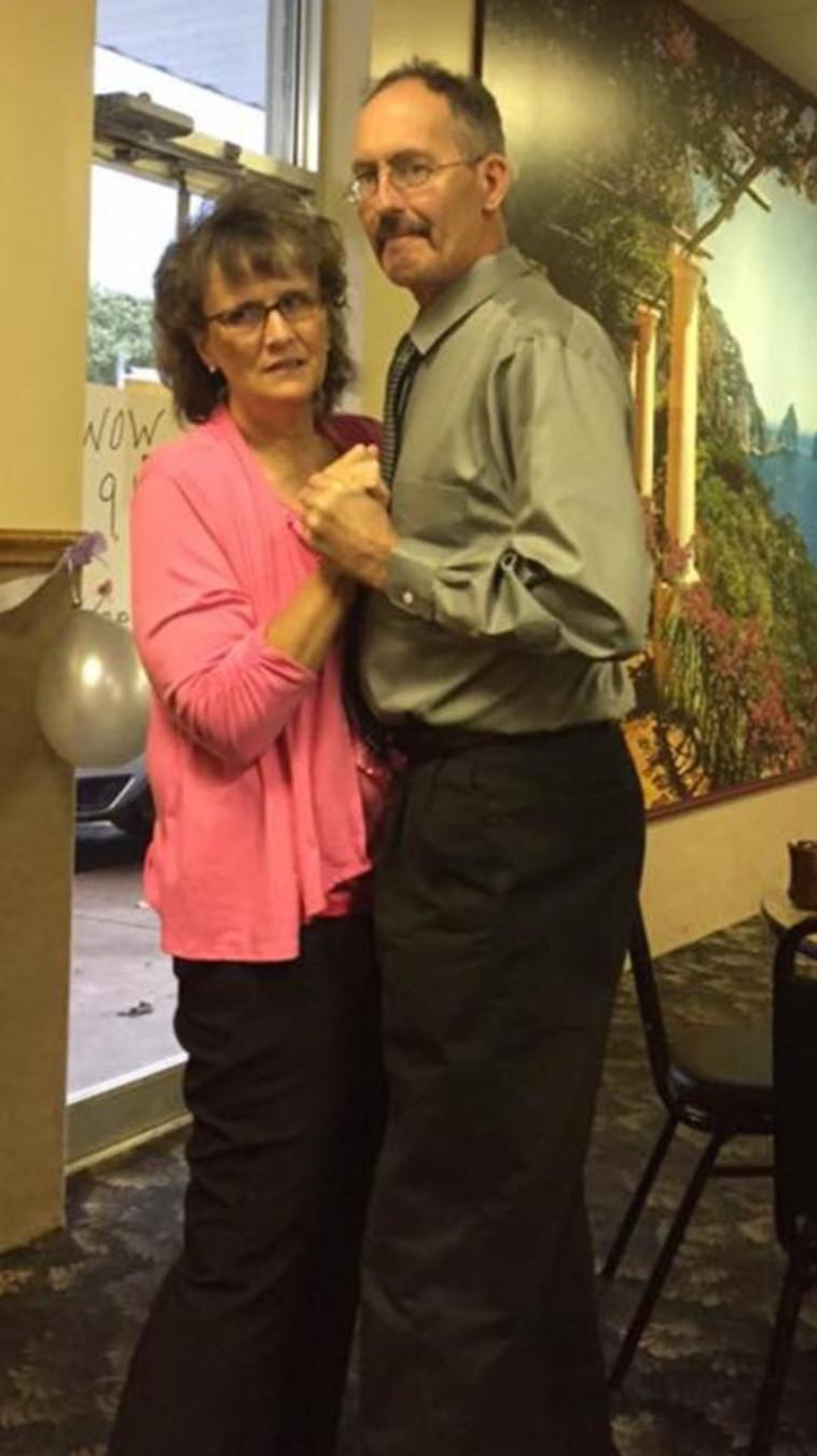 מארי ובעלה. צילום: פייסבוק