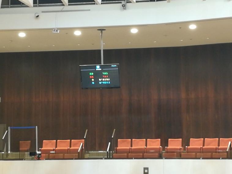 ההצבעה על חוק ההמלצות. צילום: יניר קוזין