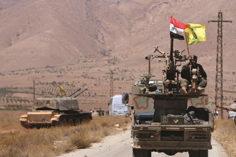כח חיזבאללה בגבול סוריה ולבנון. צילום:רויטרס