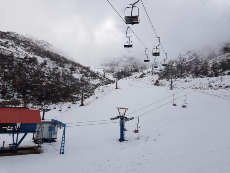 שלג באתר החרמון. צילום: אתר החרמון