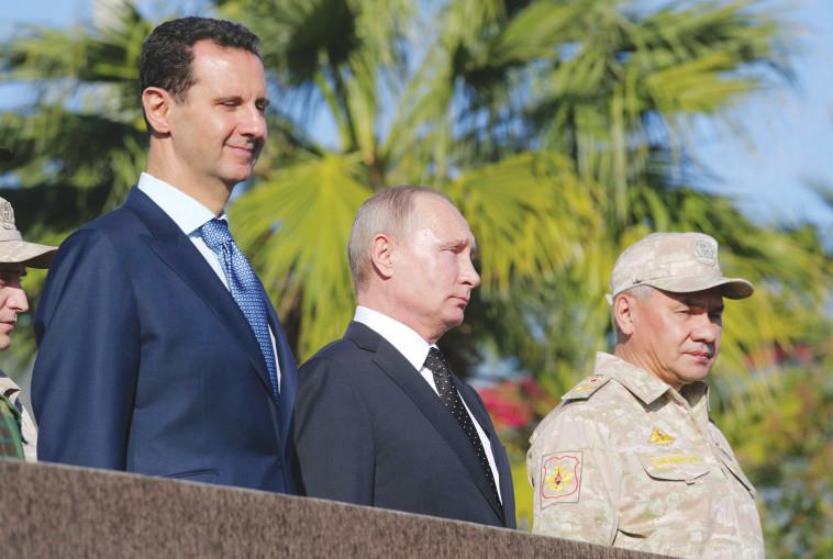 הגולן לא בעדיפות. בשאר אל אסד עם ולדימיר פוטין, צילום: רויטרס