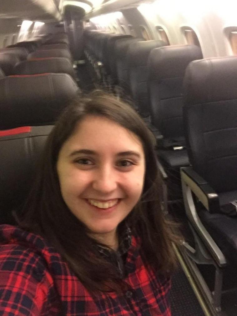 סלפי בטיסה הפרטית. צילום: בת וארסטיג, ראדיט