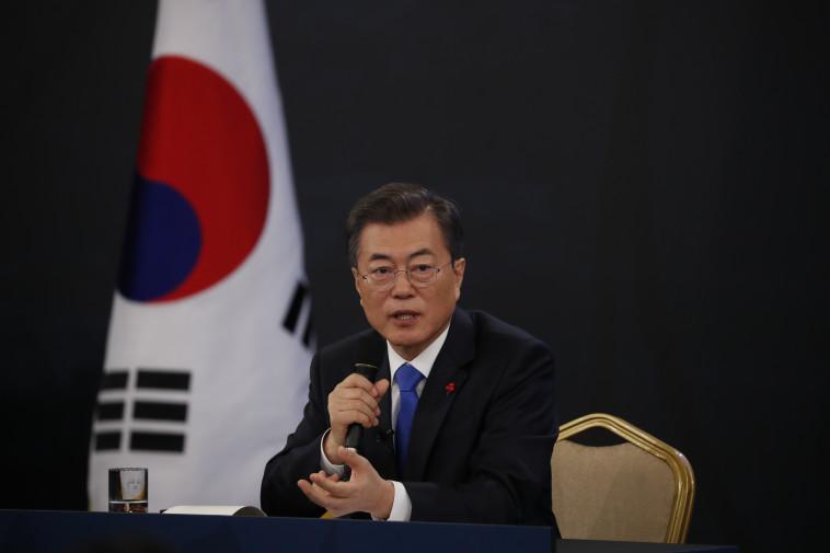 נשיא קוריאה הדרומית, מון ג'יאה-אין (צילום: AFP)