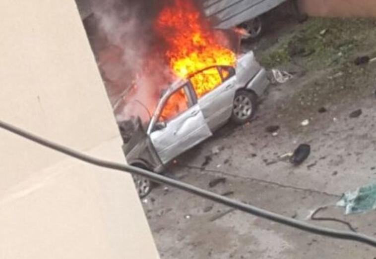 זירת הפיצוץ בלבנון. צילום: רשתות ערביות