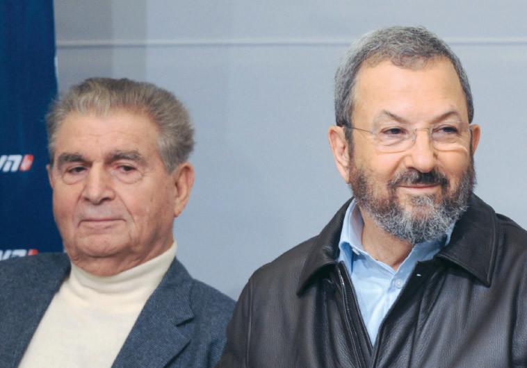 מיכאל בר-זוהר עם אהוד ברק. צילום: אבשלום ששוני