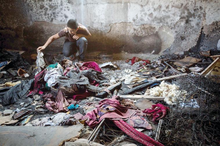 הבית השרוף בדומא  (צילום: מרים אלסטר, פלאש 90)