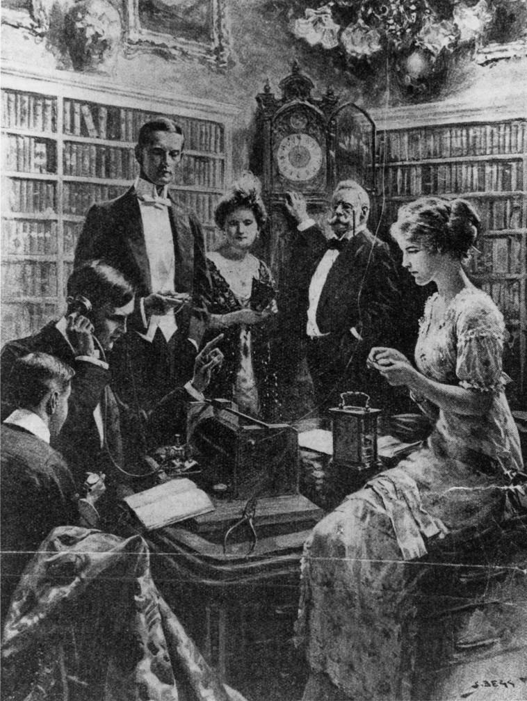 אנשים מקשיבים לרדיו.  Hulton Archive/gettyimages