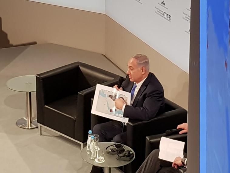ראש הממשלה נתניהו בוועידת מינכן לביטחון. צילום: יניר קוזין