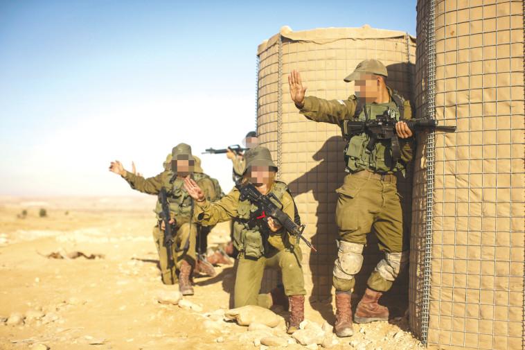 אימון חיילים בחיל רגלים. צילום: הדס פרוש, פלאש 90