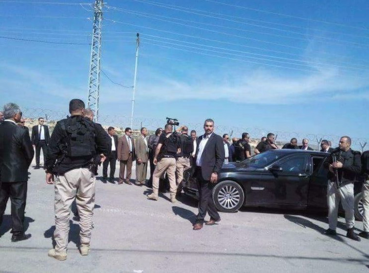שיירתו של ראש הממשלה חמדאללה. צילום: התקשורת הערבית