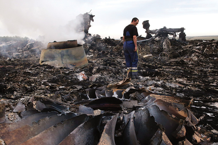 התרסקות המטוס המלזי באוקראינה ב-2014. צילום: רויטרס
