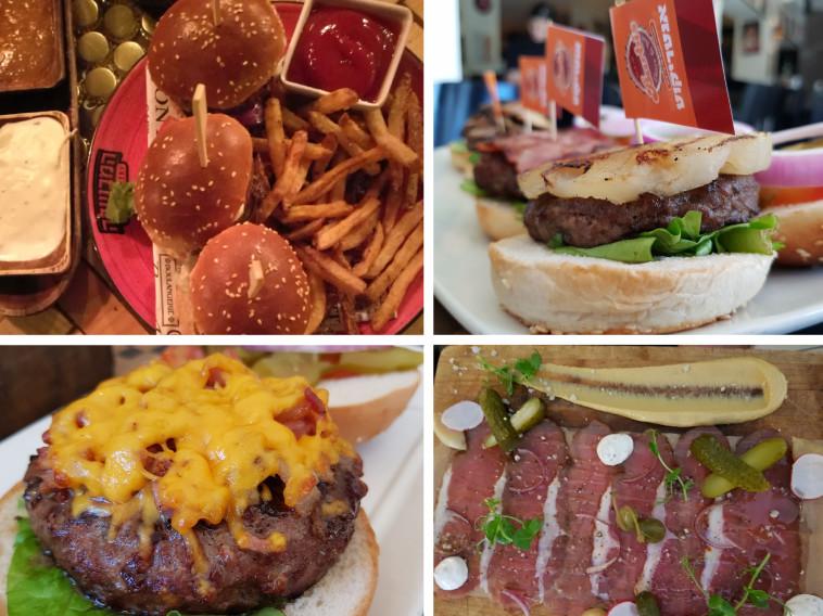 המבורגרים מכל הסוגים בפסטיבל האוכל של אילת
