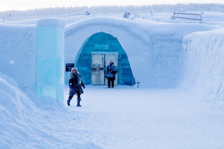 מלון הקרח מבחוץ. צילום: ניר קידר