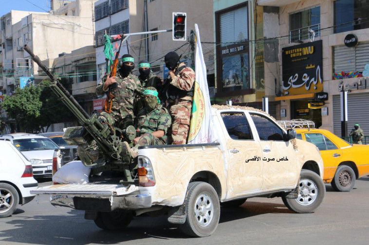 אנשי חמאס ברצועת עזה. צילום: קול אל אקצא