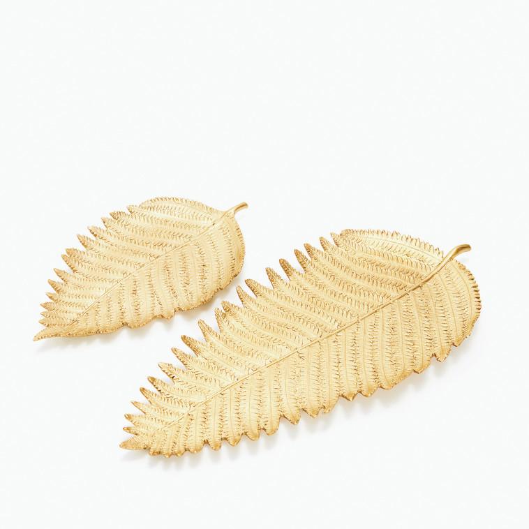 """מגשים בצורת עלה, Zara Home. צילום: יח""""צ"""