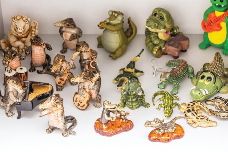 אוסף תנינים. צילום: איתן וכסמן