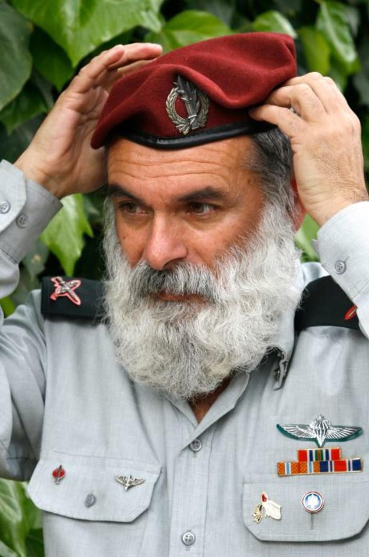 הרב רונצקי בימיו כרב הצבאי הראשי. צילום: נתי שוחט, פלאש 90