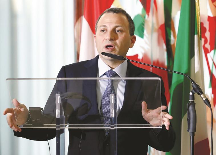 שר החוץ הלבנוני. צילום: רויטרס
