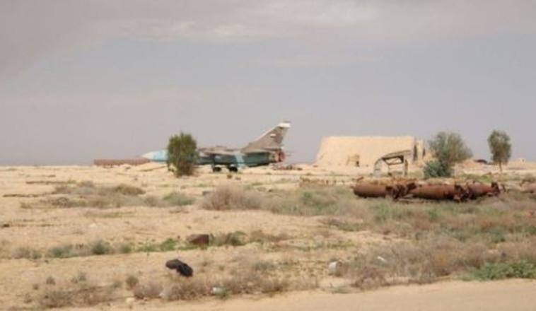 בסיס חיל האוויר הסורי T-4 שהופצץ