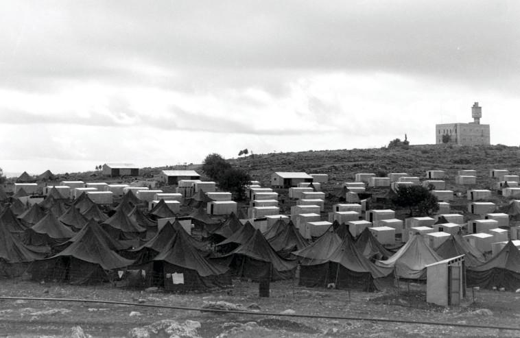 """שטח מעברת פראדיה, אז. צילום: דוד אלדן, לע""""מ"""