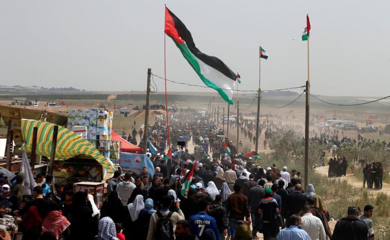 """העימותים בעזה בסופ""""ש. צילום: רויטרס"""