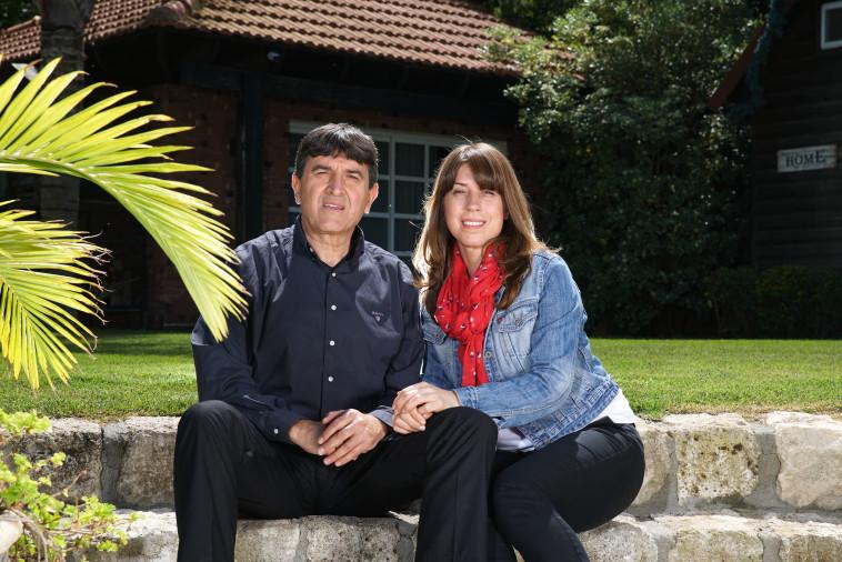 חסון חסון ואשתו אנעאם. צילום: מאיר וקנין, סוכנות ג'יני
