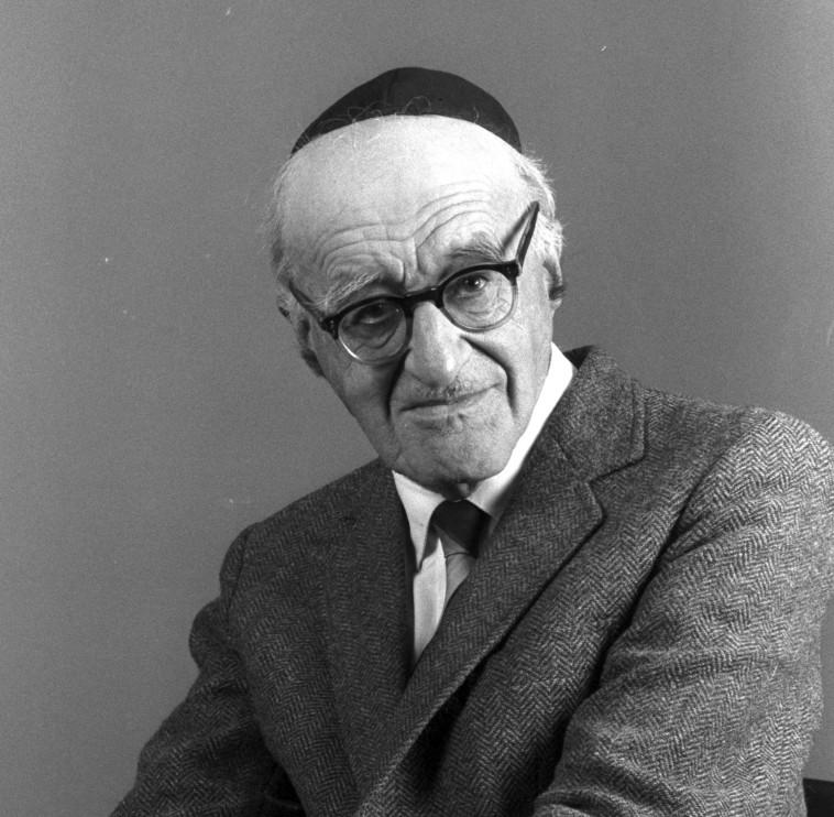 ישעיהו ליבוביץ (צילום: יעקב סער, לע''מ)