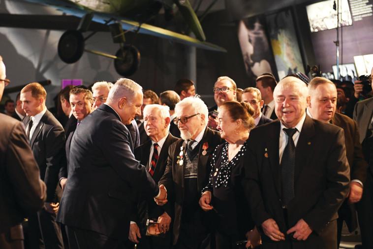 """""""אני מקווה שהקשרים בין רוסיה לישראל יישארו חזקים"""". נתניהו בביקור במוסקבה. צילום: קובי גדעון, לע""""מ"""
