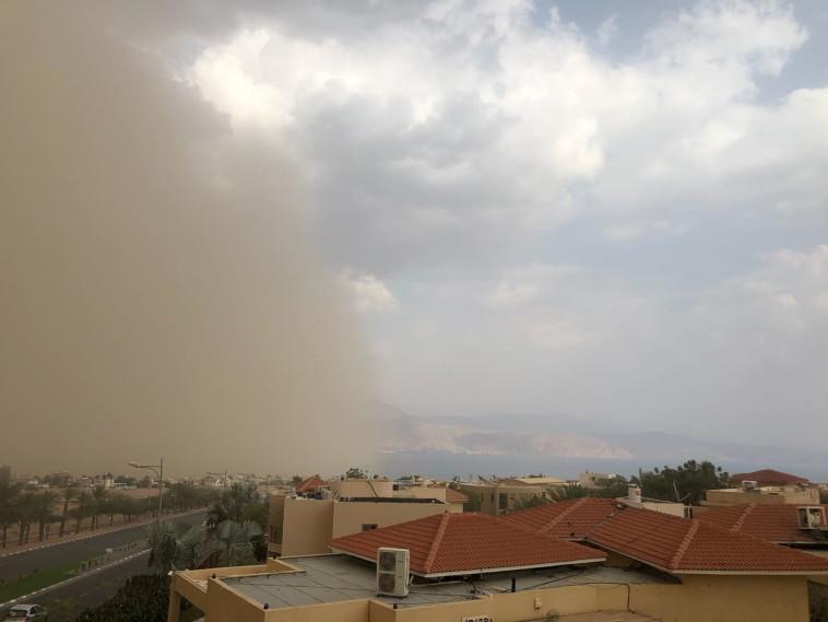סופת חול סמוך לאילת (צילום: ללא)