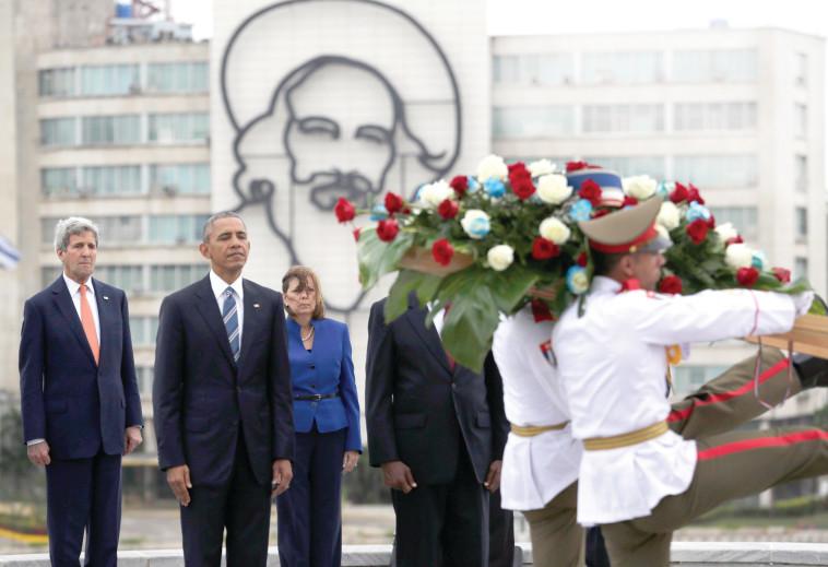 ברק אובמה בקובה. צילום: רויטרס