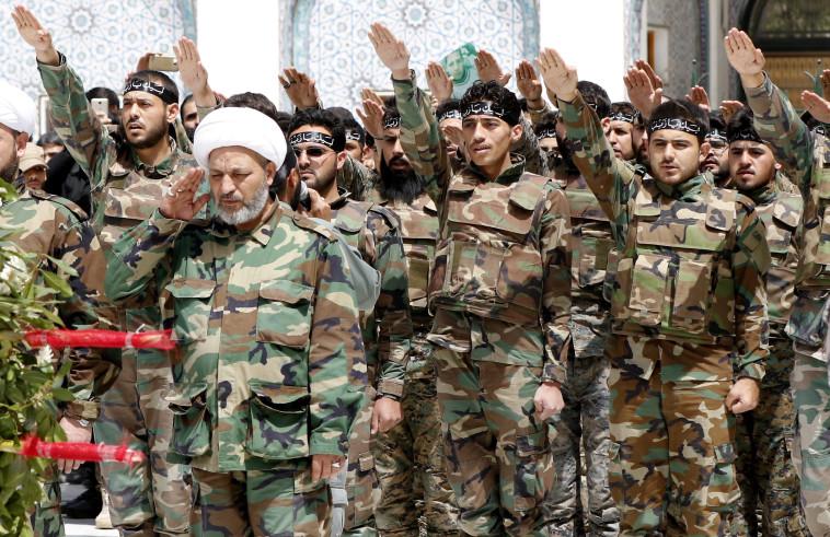 מיליציות שיעיות בסוריה. צילום: AFP