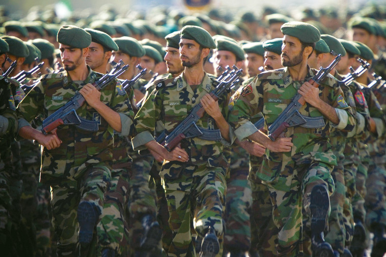 משמרות המהפכה. לפי הדיווחים, חיילים איראנים נפגעו בתקיפות. צילום: רויטרס