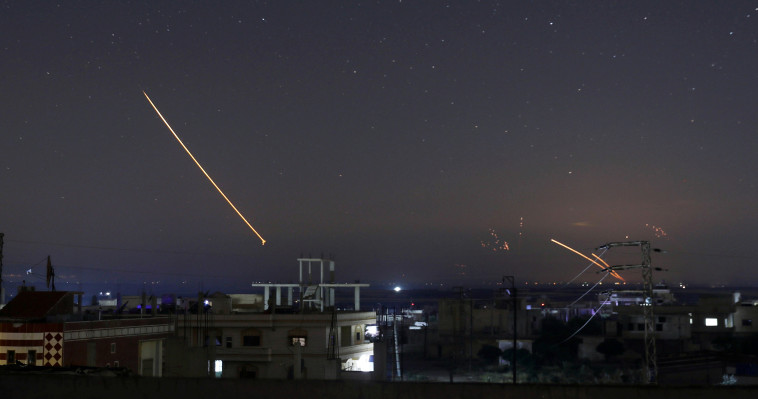 תקיפה ישראלית בסוריה. צילום: רויטרס