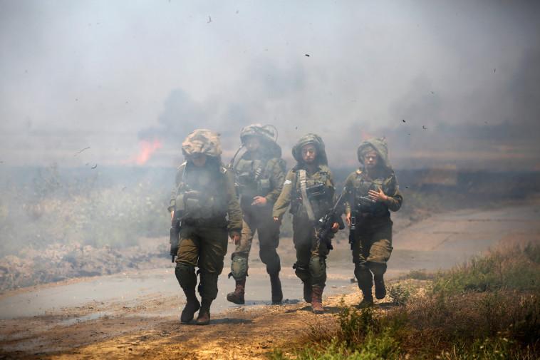 חיילים בגבול רצועת עזה. צילום: רויטרס