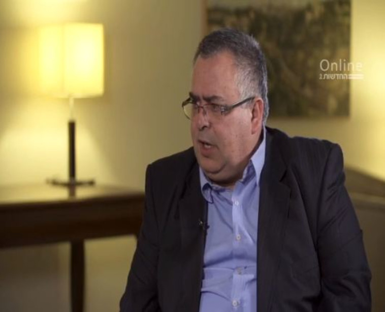 דוד ביטן בראיון למהדורה המרכזית. צילום מסך