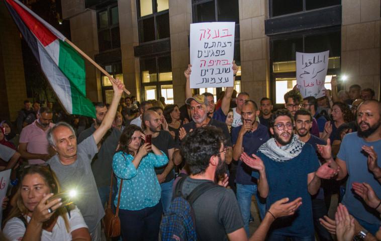 ההפגנה בחיפה. צילום: מאיר ועקנין, פלאש 90