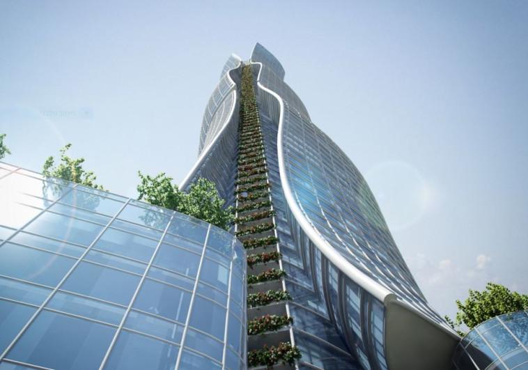 הדמיה של המבנה. צילום: מילוסלבסקי אדריכלים
