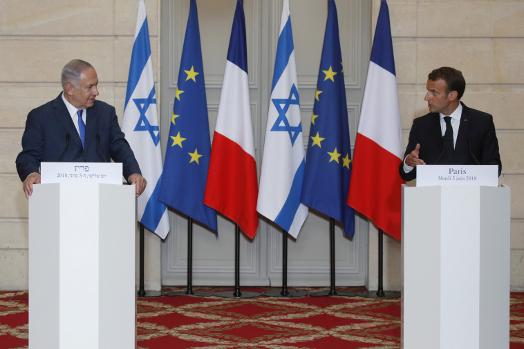 התקררות ביחסי צרפת ישראל. בנימין נתניהו ועמנואל מקרון, צילום: רויטרס