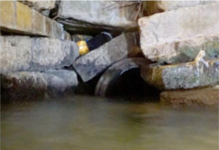 """פתח המנהרה שהותקפה. צילום: דובר צה""""ל"""