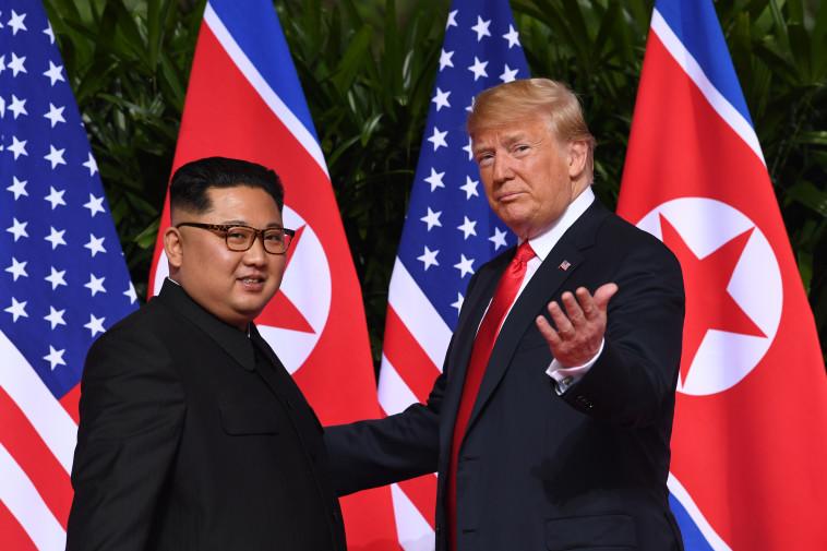 דונלד טראמפ, קים ג'ונג און. צילום: AFP