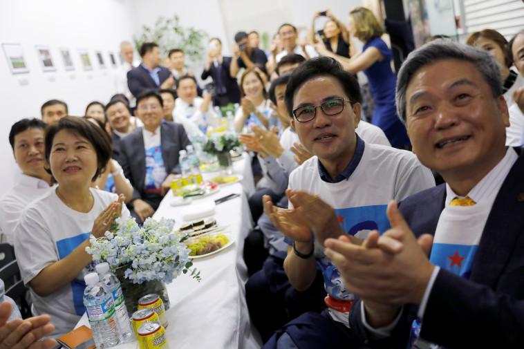 אושר בקוריאה הדרומית. צילום: רויטרס