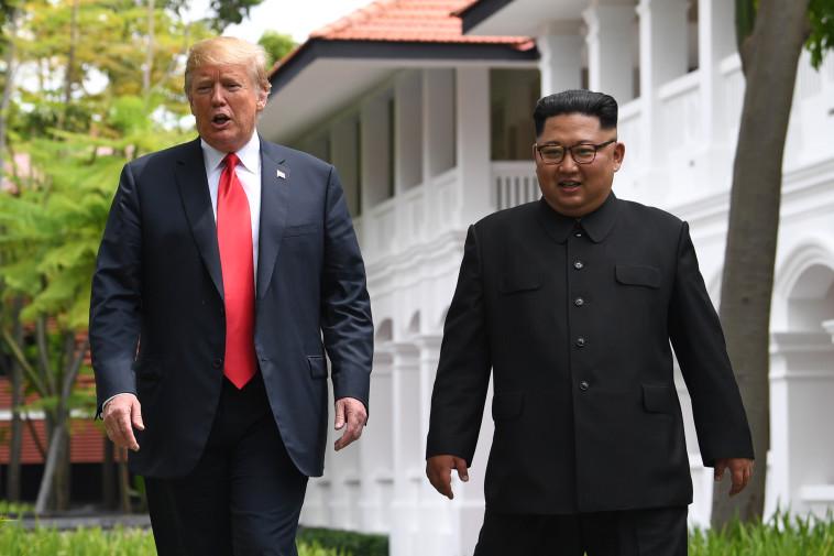 קים ג'ונג און, דונלד טראמפ (צילום: AFP)