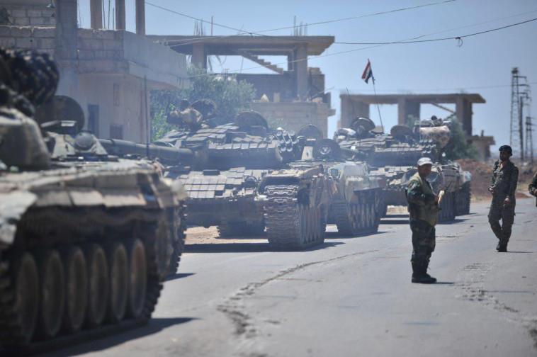 כוחות אסד בדרום סוריה. צילום: רויטרס